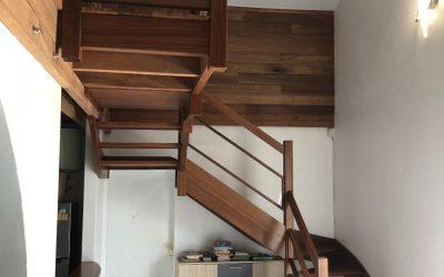 Mezzanine + bardage + escalier